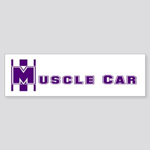 Retro Muscle car stripe-plum Bumper Sticker